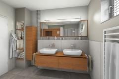 LH10 - Bad mit Dusche/Sauna, Stil Landhaus,  Highend-Fotorealistik