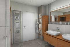 LH11 - Bad mit Dusche/Sauna, Stil Landhaus,  Highend-Fotorealistik