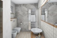 LH20 -  Bad mit Dusche,WC, Bidet und Wellness, Stil Landhaus,  Highend-Fotorealistik