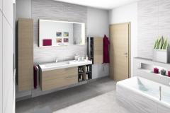 M25 Perspektive Waschtisch,  Wandflliesen 32x89 cm, Highend 3D Fotorealistik