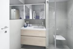 M70 Waschtisch, Dusche barrierefrei