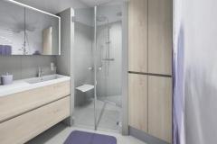 M72 Waschtisch, Dusche, Waschmaschinenverbau