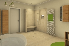 M45 Perspektive Dusche, Bad klassisch, 3D-Highend Fotorealistik