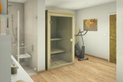 M53 Perspektive Wellnesskabine, 3D Highend-Fotorealistik