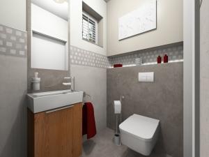 LH14 - WC, Stil Landhaus,  Highend-Fotorealistik