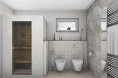 LH18 -  Bad mit Dusche,WC, Bidet und Wellness, Stil Landhaus,  Highend-Fotorealistik