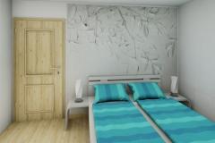 2 - Mädchenzimmer im Teenager-Alter. Angrenzender Schrankraum, Schminktisch, Couch, Multimedia