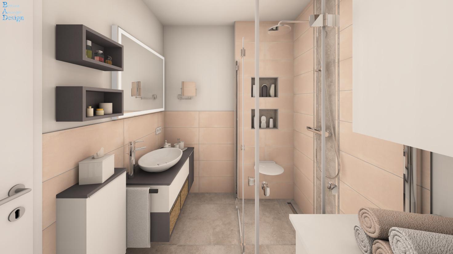 Mini-Badezimmer mit Dusche